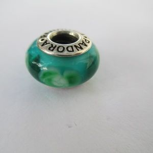 PANDORA MURANO GREEN FLOWERS FOR YOU
